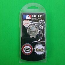 MLB Diamondbacks Magnetic Cap Clip w/ 2 Enameled Team Logo Golf Ball Markers