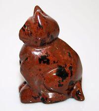 "Carved Red Jasper Gemstone CAT 35gr 1 .75"" x 1.25"" B67D"