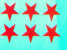 64 red stars 35mm. size iron on transfers wholesale pack 64 iron on stars