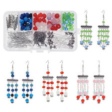 272 PCS/Box Glass Crystal Lava Beads for Necklace Earrings Jewelry Making Kits
