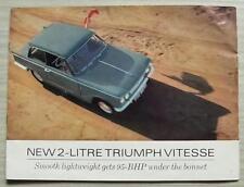 TRIUMPH 2 LITRE VITESSE Car Sales Brochure 1967 #376/367/UK SALOON Convertible