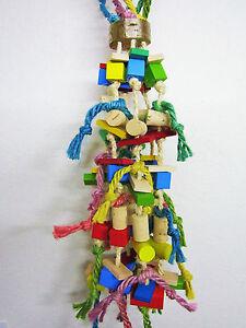 Papageienspielzeug: BIRDY PARTY FUN, aus Buchenholz und Naturkork, PAPAGEIENGEIL