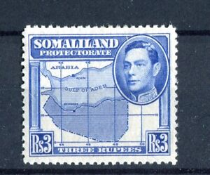 Somaliland Protectorate KGVI 1938 3r blue SG103 MLH