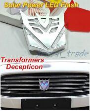 Transformer Solar Power LED Flash Strobe Light Emblem Badge decepticon car motor