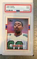 1989 Topps Cris Carter #121 PSA 9 Mint Philadelphia Eagles Rookie Football Card