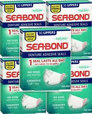 SEA-BOND Denture Adhesive Wafers Uppers Fresh Mint 30ct ( 5 boxes )