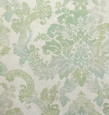 Formal Green and Beige Damask with Glitter on Beige Wallpaper FG4433