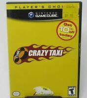 CRAZY TAXI - PLAYER'S CHOICE GAME FOR NINTENDO GAMECUBE, GAME DISC, CASE AKKLAIM