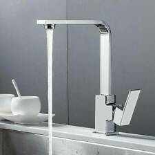 More details for modern swivel spout kitchen sink taps basin sink mixer tap square brass faucet