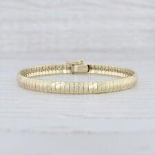 """Omega Chain Bracelet 10k Yellow Gold 7"""" 5.5mm Italian"""