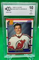 1990-91 Score #439 Martin Brodeur Rookie Card BCCG Graded 10 - New Jersey Devils