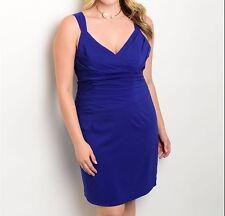 SALE - Plus Size Chic Royal Blue Cocktail Dress Size 16