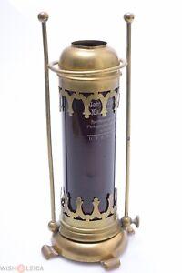 "✅ ANTIQUE BROWN DARK ROOM CANDLES LAMP, SAFELIGHT COLLODION, WET-PLATE 21CM/8"""