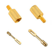 2 Pack .410 Caliber Solid Brass Slotted Tips Gun Clean Patch Holder for Shotgun