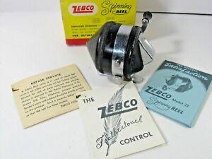 Vintage  ZEBCO Spinner Model 33 Spinning Fishing Reel in Original box/instr. WOW