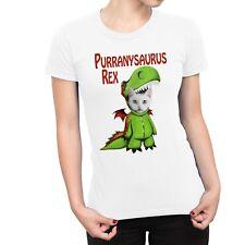 1Tee Womens Purranysaurus Rex Cat T Rex Dinosaur T-Shirt