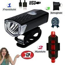 LED Scheinwerfer Fahrradlicht Vorderlicht Frontscheinwerfer Rücklicht Set STVZO