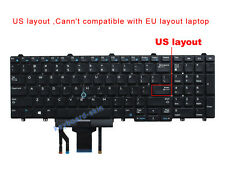 New Original US Laptop Keyboard with Backlit for Dell Latitude E5550 / E5570