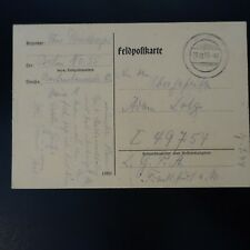 Germania Lettera Fieldpost Brief 29.12.1943 -> Francoforte