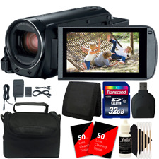 Canon VIXIA HF R800 HD Camcorder (Black) + 32GB Memory Card + Cleaning Kit