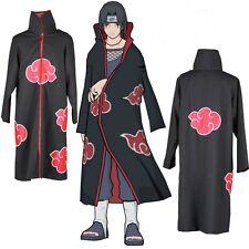 Naruto Akatsuki Itachi Uchiha Deluxe Men's Cosplay Costume Cloak Size M