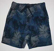 Nuevo Gymboree Azul Garabato Estampado Hojas sin Cierres Pantalones Cortos 4T