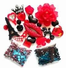 Sale -- DIY 3D Bling Bling Red Lip Cell Phone Case Kawaii Resin Flat back Decode