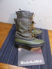 Vintage Men's 9 Sorel Kaufman Green Boots With Wool Felt Lining Very Good!