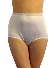 Vintage 80's Warner's Lace Trim White Full Brief Panties Sz 7 (#524)