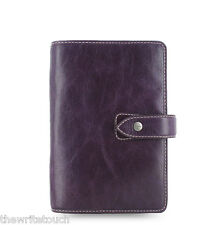 Filofax Personal Size Malden Organizer- Purple Leather - 025850 - 2018 Diary