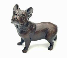 More details for french bulldog solid bronze sculpture by michael simpson 1133
