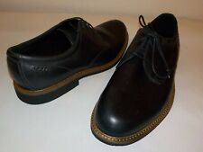NEW Men's ECCO Kenton Plain Toe Leather Oxfords, Black, Sz 10 M (44), $199