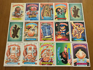 Lot of 15 Garbage Pail Kids Cards Original Series 1980's NM-M Garbage Gang (3)