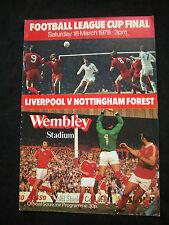 Orig.PRG  ENGLAND  League Cup  1977/78  FINALE  LIVERPOOL FC - NOTTINGHAM FOREST