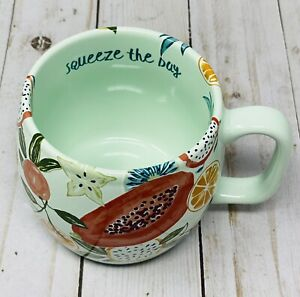 Opalhouse Mint Color 'squeeze the day' Mug Porcelain Coffee Cup New W/ Tag 2020