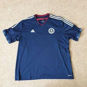 Scotland National Team 2014/2015 Home Football Shirt Jersey Adidas Size 3XL XXXL