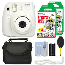 Fuji Fujifilm Instax Mini 8 Instant Film Camera White + 40 Film Accessory Kit