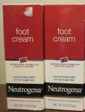 2x Neutrogena Norwegian Formula Moisturizing Foot Cream 2 oz