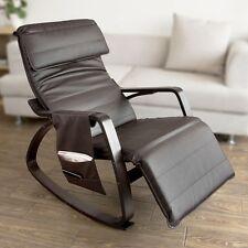 SoBuy® Eponge plus épais!Rocking Chair Fauteuil à bascule berçante , FST20-BR FR