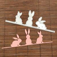 Easter Bunny Rabbit Metal Cutting Dies Stencil DIY Scrapbooking Album Stamp Card