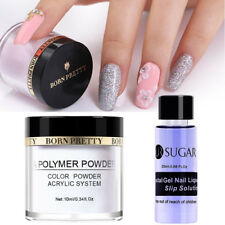 10ml Clear Acrylic Powder Dust Tips 20ml Crystal Gel Nail Liquid Slip Solution