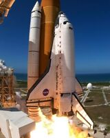 New 8x10 NASA Photo: Space Shuttle Discovery Launches for Mission STS-124