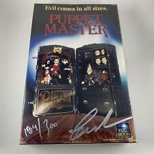 Puppet Master Blu-ray DVD Set Signed by Charles Band Blade Action Figure VHS Box