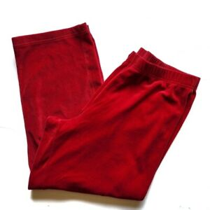 Just My Size Velour Lounge Pants 2X Red 18W/20W Relaxed Fit Activewear Straight
