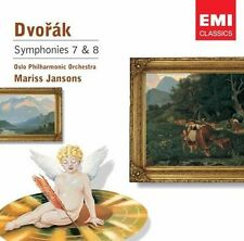 Dvorak Symphonies 7 & 8 Jansons OPO Emi Classics CD.New & Sealed