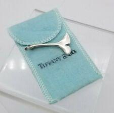 Elegant Vintage Tiffany & Co Sterling Silver Ginkgo Leaf Pin Brooch