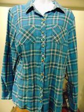 L.L.Bean Women's Striped Shirt Button Down Shirt with Button up cuffs Medium