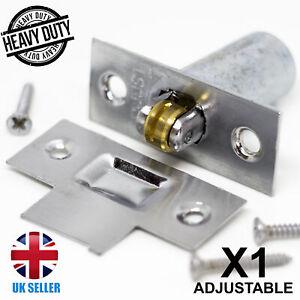 CHROME ADJUSTABLE Roller Catch 38mm Depth Door/Cupboard/Cabinet Ball Latch Lock