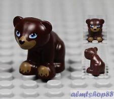LEGO - Bear Cub Dark Brown - Farm Animals Baby Zoo Toy Minifigure Town Friends