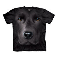 The Mountain Black Lab Face Adult Unisex T-Shirt